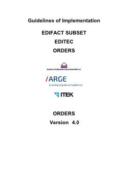 Orders: ORDERS 4.0