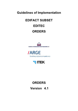 Orders: ORDERS 4.1
