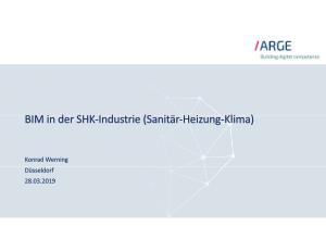 Vortrag BIM in der SHK-Industrie - ARGE Konrad Werning