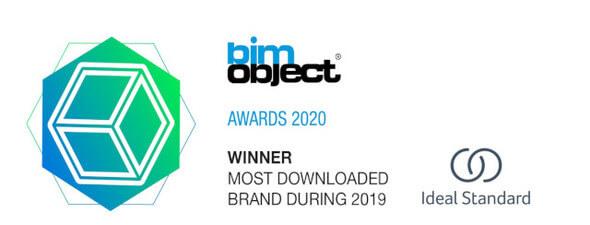 """BIMobject Awards 2020 Auszeichnung """"Am meisten heruntergeladene Marke"""""""