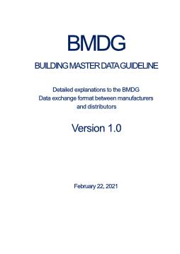 BMDG - BUILDING MASTER DATA GUIDELINE - HVAC