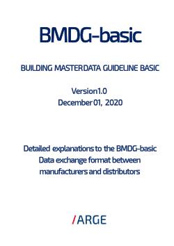 BMDG basic - BUILDING MASTER DATA GUIDELINE - SHK-Branche