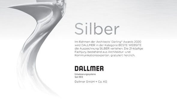 Dallmer: Dallmer erhält ARCHITECTS' DARLING® 2020