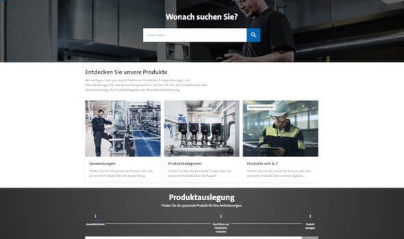 Grundfos: Neue Website mit schneller, einfacher Nutzung
