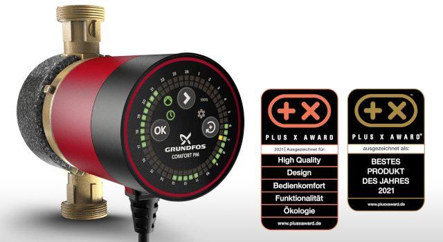 Grundfos: Herausragende Auszeichnung der Comfort BU/BXU beim Plus X Award