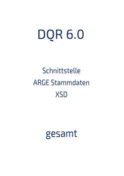 Schnittstelle Stammdaten XSD gesamt 6.0