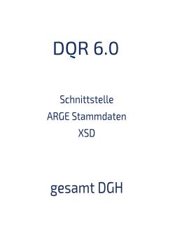 Schnittstelle Stammdaten XSD gesamt DGH 6.0