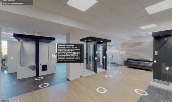 Virtuelle Dusch- und Wannenwelten